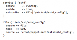 Sample puppet configuration